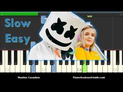 Marshmello & Anne Marie Friends Slow, Easy Piano Tutorial