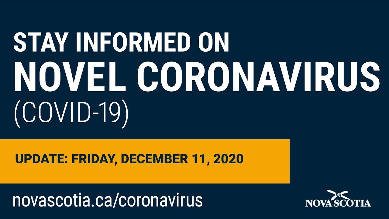 Update COVID-19 for Nova Scotians: Friday, December 11