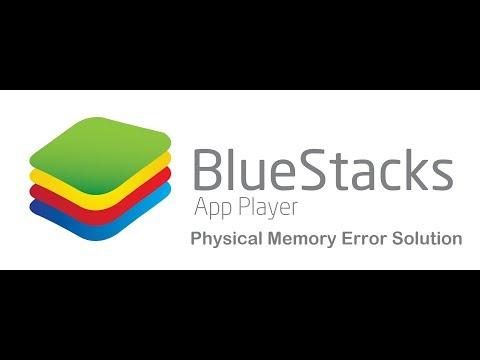 Bluestacks App Error | Physical Memory Error Solution