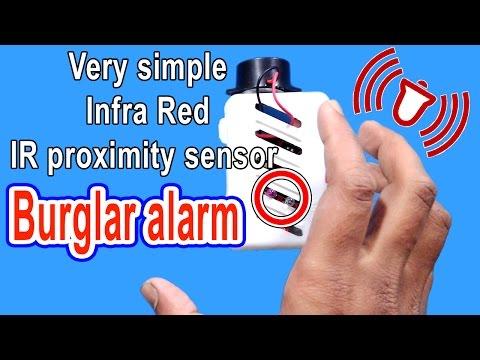 Very simple Infra red IR proximity sensor|burglar alarm