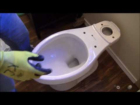 DIY Bathroom Remodel 2018 Part 12 Install New Glacier Bay Toilet Model 215 583