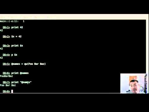 Using the built-in debugger of Perl as REPL