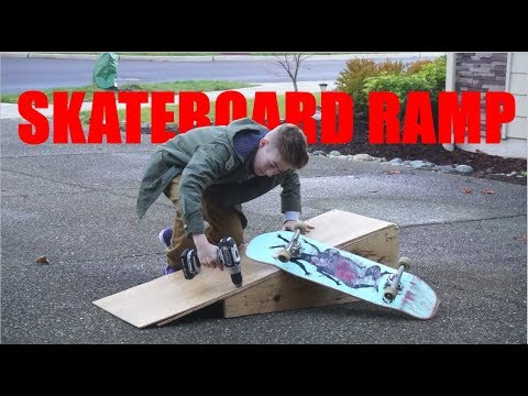 HOW TO BUILD A SKATEBOARD RAMP!!!