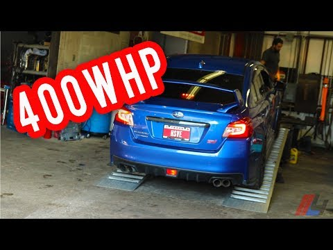 MY SUBARU WRX STI GOT A BIGGER TURBO AND IT'S FAST! 400 WHP WITH BLOUCH TURBO AND E85