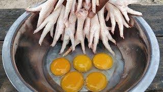 Crispy Chicken Feet Recipe / Yummy Crispy Chicken Feet Cooking
