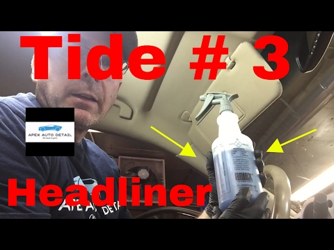 Tide for detailing # 3....headliner (HOW TO REMOVE ODOR FROM SMOKING)