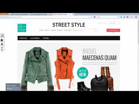 Installation Responsive Magento Theme Gala Streetstyle - Full Package