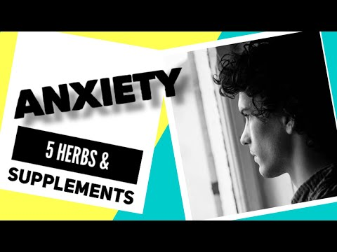 5 Herbs and supplements for anxiety #anxiety