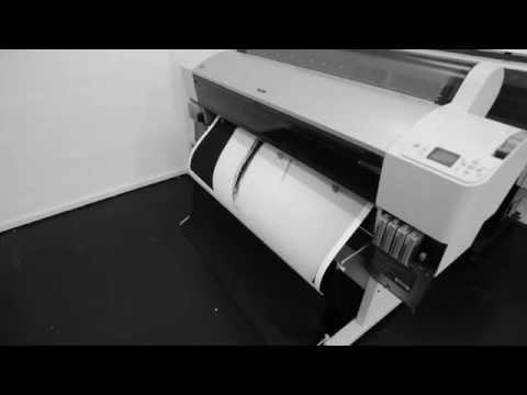 Timelapse of piezography large format printer, Izer Print, Singapore