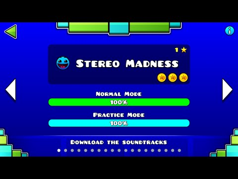 Geometry Dash - Stereo Madness 100% & 3 Coins