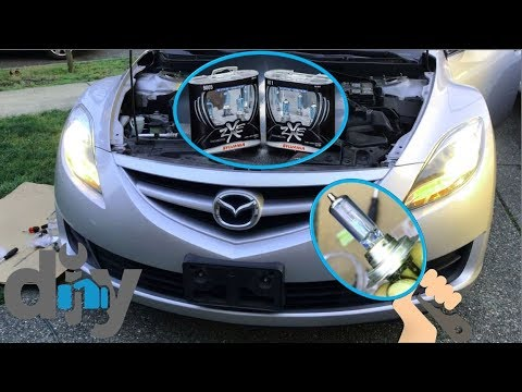 How To Replace 2012 Mazda 6 Headlight Bulbs | No Jacking Required!