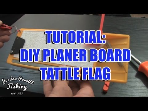How to make your own planer board tattle flag.