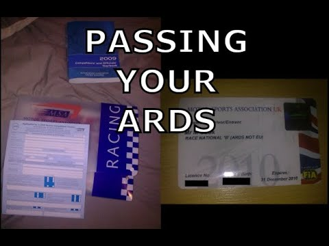 How to go Racing - 1. How to pass your Ards Test