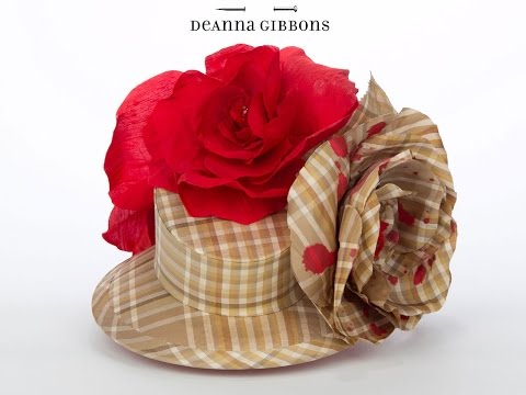 Hat Making - Silk Covered Buckram Frame with Handmade Flowers