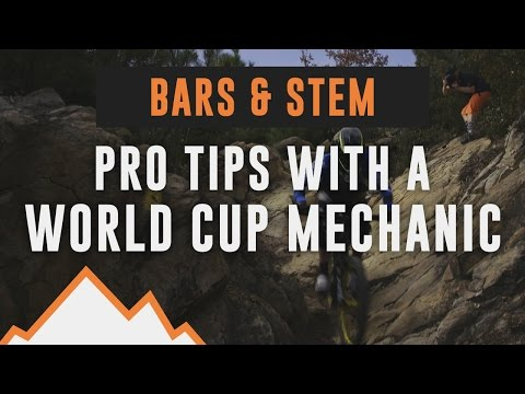 Bars & stem, pro tips with a world cup mechanic - Dream Enduro Bike #4