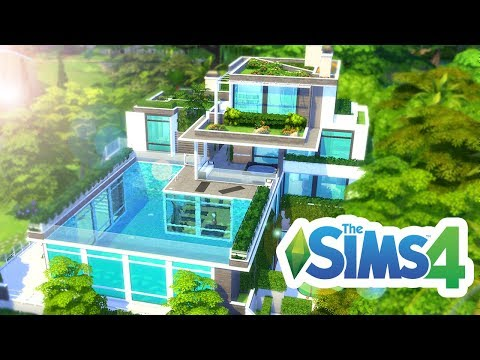 🏠 AMAZING FOREST POOL HOUSE! 💚 The Sims 4 Build 💚