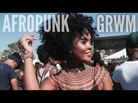 AfroPunk | GRWM & Vlog + Braided Headband Hair Tutorial