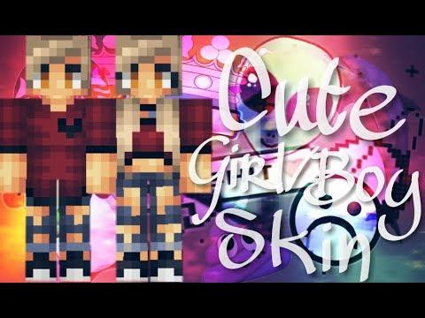 Pixel gun 3D: Cute girl & boy skin | free copy