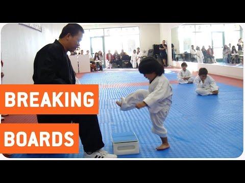 Little Boy Trying to Break Board in Taekwondo | The New Karate Kid