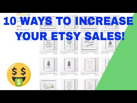 Ten ways to increase your etsy shop sales