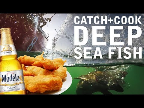 Catch Cook EAT the Best BEER BATTERED Fried Fish of Your Life! | Capitola, CA