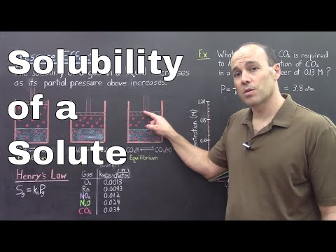 Gen Chem II - Lec 9 - Solubility of a Solute