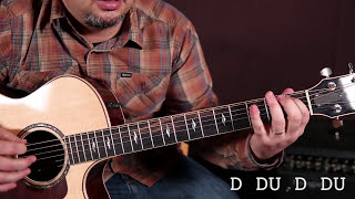 Learn to play The Signature Johnny Cash strum pattern (beginner acoustic Guitar)