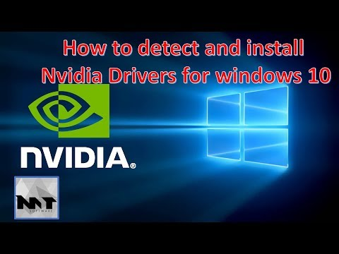 How to detect and install Nvidia drivers for windows 10