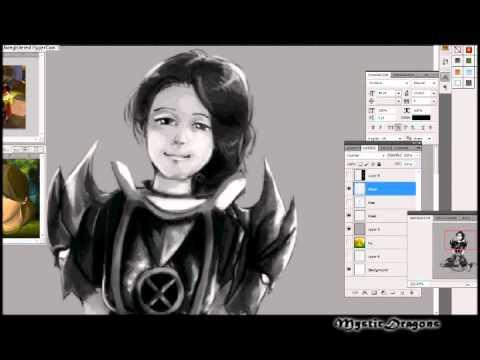 Runescape Drawing - Cute Torva Girl