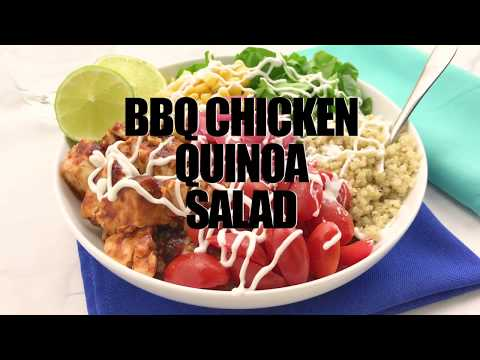 BBQ Chicken Quinoa Salad Bowls