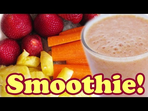 How To Make Tropical Smoothie - Healthy Strawberry Banana Mango Recipe - Smoothies Recipes - Jazevox