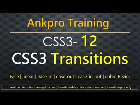 CSS3 12 - CSS3 Transitions | CSS3 Transitions Properties | CSS3 Transitions Effects