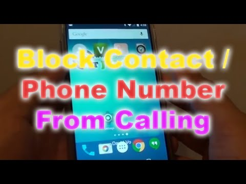 Google  Nexus 5: How to Block a Phone Number From Calling Your