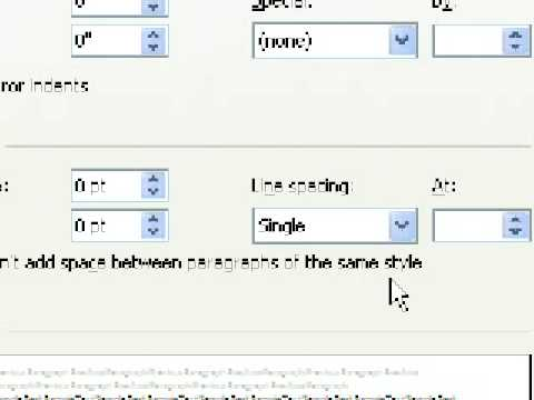 Microsoft Word 2007 - Change Default Line and Paragraph Spacing