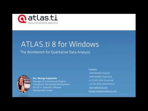 ATLAS.ti 8 Windows  - taller impartido el día 8 de noviembre de 2016