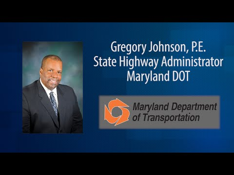 In this Two Minute State DOT Update Video Meet Maryland DOT SHA's Gregory Johnson: A Man on the Move