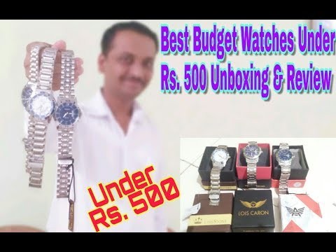 Best Budget Watches Under Rs. 500 Unboxing And Review | Best Fancy Wrist Watches for Men