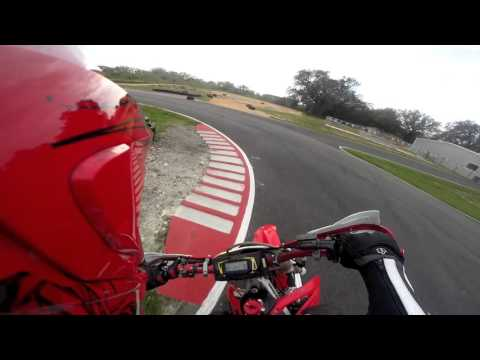Starting to get a little bit faster on the Supermoto Track!