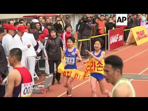 Runners take part in annual Pyongyang marathon