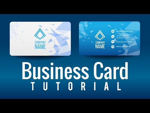 How to Design your own Business Card by using illustrator CC