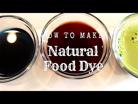 How to make natural food dye | Vegan and chemical free