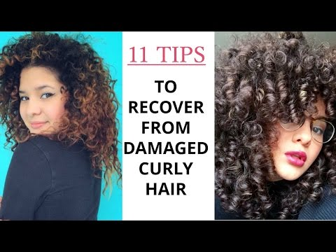 Tips To Recover From Damaged Curly Hair