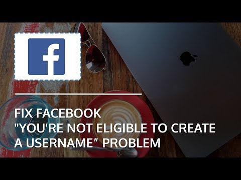 Fix Facebook Page Not Eligible For Username Problem