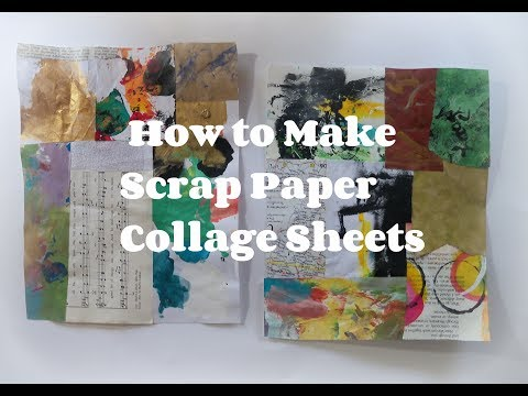 How to make scrap paper collage sheets/ how to use paper scraps / use your scraps