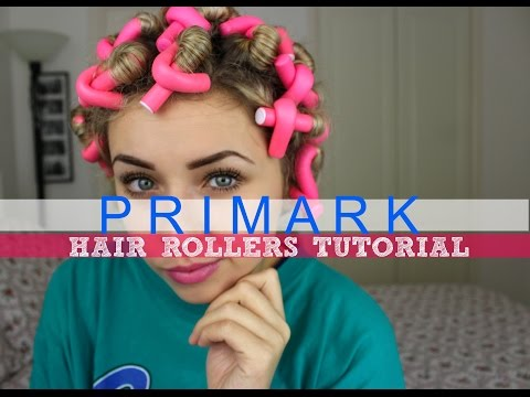 PRIMARK Hair Rollers Tutorial | OVERNIGHT HEATLESS CURLS