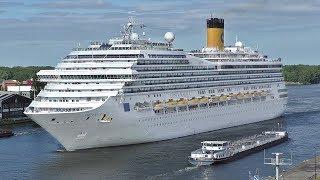 Costa Magica Cruise Ship Departs Amsterdam Cruise Terminal