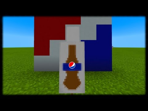 Minecraft PE | How to Make a Pepsi Banner