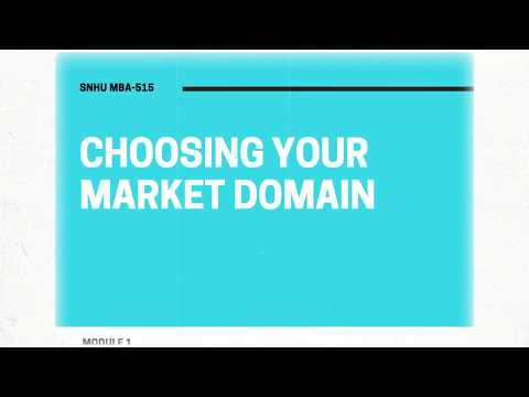 MBA 515: Choosing Your Market Domain