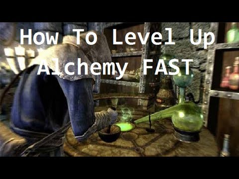 Skyrim - How To Level Up Alchemy Fast & Easy!