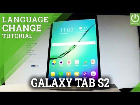 SAMSUNG Galaxy Tab S2 CHANGE LANGUAGE / Set Up Language